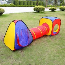 3IN1 Children Kids Baby Play Tent &Tunnel Ball Pit Playhouse Pop Up Playtent Kj
