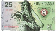 The Harvest Maven Banknote 25 Fusto 2015 Unc Specimen, Private, Note