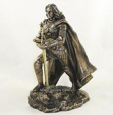 SPADA nella roccia Figura Statua CAVALIERE MEDIEVALE RE ARTU 'figurine della scultura