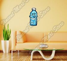 "Smiling Plastic Water Bottle Funny Wall Sticker Room Interior Decor 12""X25"""