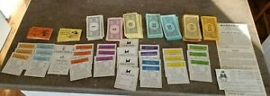 lot Property Cards DEEDS money CHANCE Community Chest INSTRUCTIONS 1961 MONOPOLY