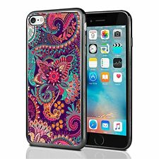 Paisley Flower Print For Iphone 7 (2016) & Iphone 8 (2017) Case Cover