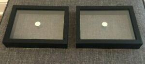 5 x 7 Black Floating Metal Frames Set of 2