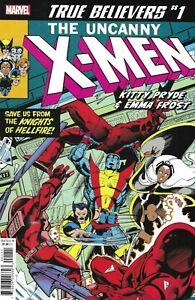 Uncanny X-Men Comic 1 Kitty Pryde Emma Frost Classic Reprint True Believers 2019