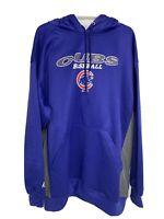 Majestic Chicago Cubs Hooded Sweatshirt Hooded Front Pocket MLB Men's 3XL