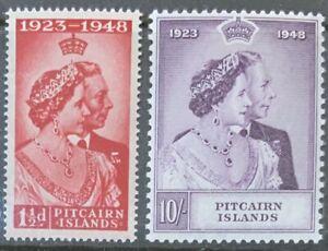 PITCAIRN ISLANDS 1948  SILVER WEDDING SET SG11/12 UNMOUNTED MINT.CAT £41