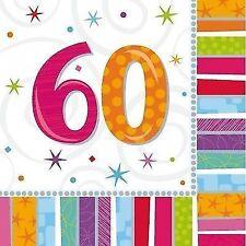 Servietten Radiant Zahl 60 Partydeko Geburtstag Feier