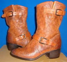 UGG Italian Collection CONCHETTA Weave Leather Buckle Boots Size US 7,EU 38 NEW