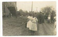 RPPC Illinoic Central? Railroad Wreck Real Photo Postcard