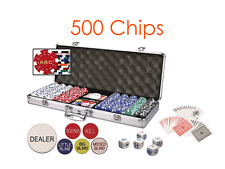Custom Classic Dice Poker Chip Set 3 Initials on Both Side of Chips - 500 Chips
