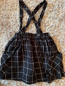 Zara Checked Black Skirt 8