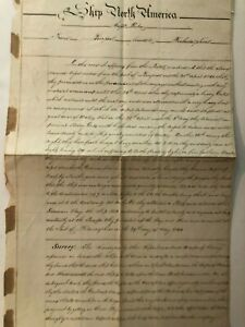 1841 Account of Ship North America Damaged During Storm