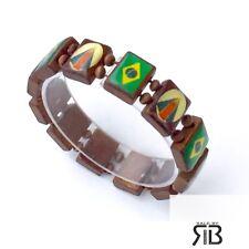 Wood Bracelet -Brazil Flag Men's Women's Wood Bracelet Virgin Of Brasil