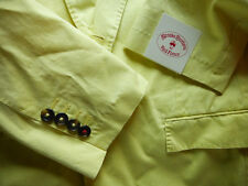 Brooks Brothers Red Fleece Yellow Garment Washed Cotton Blazer 42L ~ $398 NWT