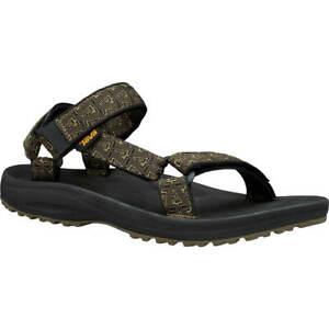 Teva Men's Winsted Hurricane Sandals Single Strap Adjustable Black/Olive Size 14