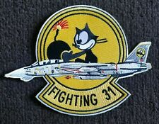 Vf-31 Tomcatters Felix Navy F-14 Tomcat Us Navy Fighter Squadron Patch
