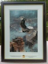 """SAVE THE EAGLE Litho Print by Artist Ted Blaylock, Signed w COA, 24""""H x 18""""W"""