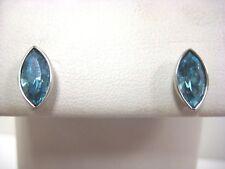 Retired Scs Pierced Earrings Aqua Blue Crystal Swarovski Jewelry 1124109