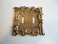 2 Gang; Gold Plated Zinc Decorative Switch Plate; Knowledge; Double Toggle