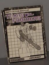 G1 TRANSFORMER BRUTICUS ONSLAUGHT INSTRUCTION MANUAL LOT # 2