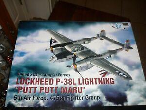 "JSI Lockheed P-38J Lightning  USAAF 475th FG ""Putt Putt Maru"" 1/18 Scale Retired"
