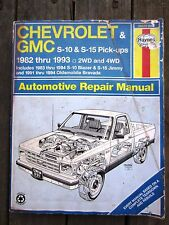 manual Chevrolet GMC S-10 S-15 pick-up truck 1982-1993 Blazer Olds Bravada used