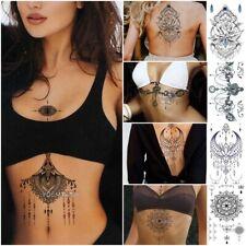 Temporary Fake Tattoo Sticker Large Big Body Art Waterproof Women Chest DIY Cute