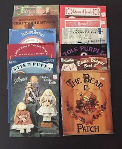 Lot of 12 Craft Booklets/Leaflets -Dollmaking-Fiber-Craft-Painting-Tole & China