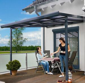 gutta® Terrassendach- Bausatz weiß oder anthrazit Aluminium mit Polycarbonat NEU