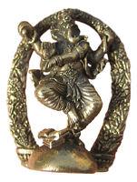 Small Brass Metal Ganesh Ganesha Elephant Hindu God Deity Destroyer of Obstacles