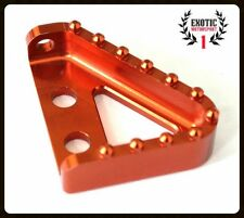 Step Plate For Brake Pedal Lever KTM 125 250 300 380 400 525 530 Anodized Orange