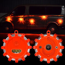 New LED Road Flare Emergency Light Roadside Safety Beacon Disc Flashers Warning