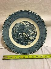 """Royal Currier & Ives Old Grist Mill  10"""" Dinner Plates"""