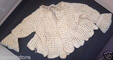 Antique 1918 Girls Baby Sweater Handmade Knit Hand Crotchet True Vintage Clothes