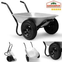 Brouette de jardin 2 roues 150 kg  - Panier de Jardin - Pneus chariot jardinage