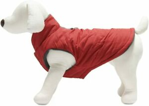 Gooby Wind Parka for Dogs, Small, Red, Dog Vest Jacket, RingLoop [Free Shipping]
