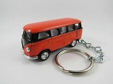 1966 VOLKSWAGEN VW Type 2 SAMBA BUS Orange & Black Key FOB Keyring Keychain