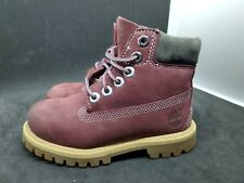 Toddler Timberland Boots Premium Waterproof Maroon Size 9.5c Toddler Boot