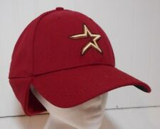 Houston Astros Wind Flap Cap Hat Star New Era Fitted Medium Large MLB Wool Blend