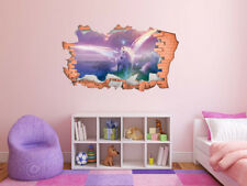 FULL COLOUR Unicorn Smashed Wall, 3D Sticker, Decal, Wall Art,Transfer