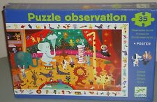 Puzzle Observation CIRCUS NIB 35 pieces jigsaw NEW by Djeco