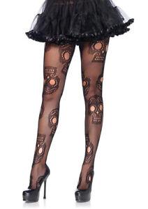 Leg Avenue Halloween Sugar Skull Fishnet Tights Pantyhose Fancy Dress Hosiery