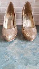 Ladies / Girls BARRATT Gold Glitter Shoes, Size 5