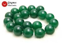 19-20mm Green Round Natural Jade Loose Beads for Jewelry Making DIY Strand 15''