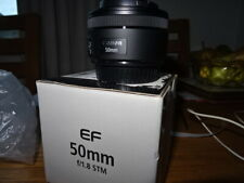 Canon 50mm f1.8 stm lens with box