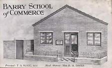Barry School of Commerce. Principal T.A. Blogg, Headmistress H.M. Davies.