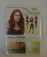 Jillian Michaels Fitness Ultimatum 2009 Nintendo Wii Brand New Factory Sealed!