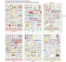 6 Sheet DIY korea Book Wall paper Stickers Diary Scrapbook Decoration Photo Skin