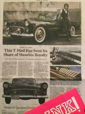 1955 FORD THUNDERBIRD V 8 & LONNY PAUL JOHNSON WALL STREET JOURNAL ARTICLE WSJ ;