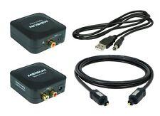 Digital zu Analog Audio Konverter(DA2) + 1,5m Toslink(MS005) + USB-Netzteil